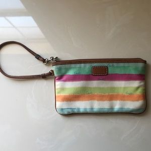 Coach wristlet. Gently used,  great condition